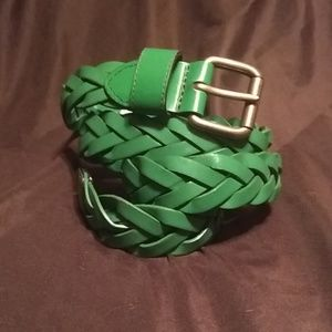 Green Genuine Leather Belt 2X